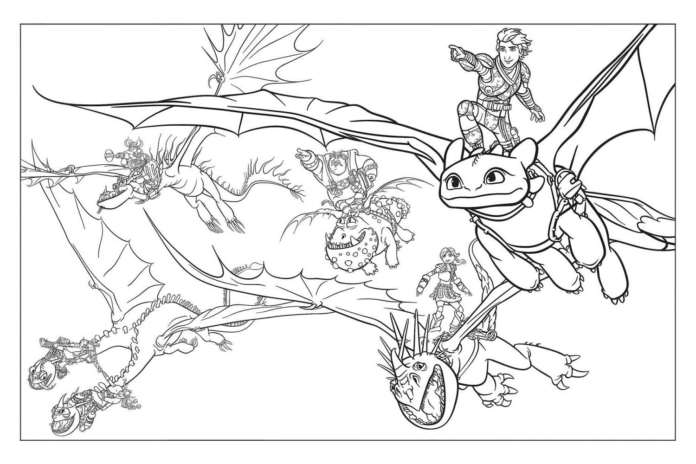 Раскраски «Как приручить дракона 3: Скрытый мир» | Детки ...